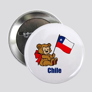 "Chile Teddy Bear 2.25"" Button (10 pack)"