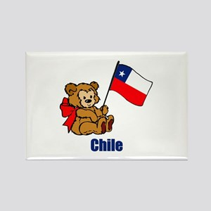 Chile Teddy Bear Rectangle Magnet
