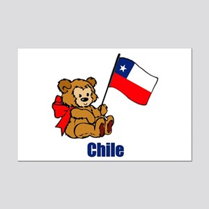 Chile Teddy Bear Mini Poster Print