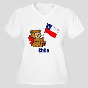 Chile Teddy Bear Women's Plus Size V-Neck T-Shirt