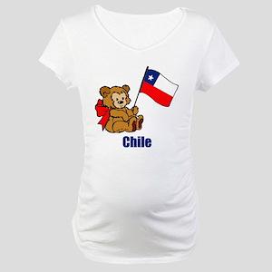 Chile Teddy Bear Maternity T-Shirt