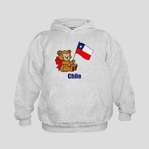 Chile Teddy Bear Kids Hoodie