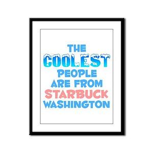 Coolest: Starbuck, WA Framed Panel Print