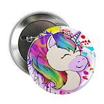 "Happy Rainbow Unicorn 2.25"" Button (10 Pack)"