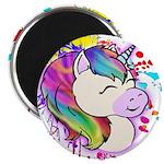 Happy Rainbow Unicorn Magnets