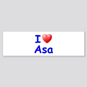 I Love Asa (Blue) Bumper Sticker