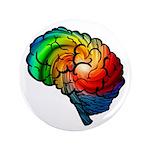 """Neurodiversity Rainbow Brain 3.5"""" Button"""