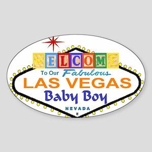 LV Baby Blocks Playpen Oval Sticker