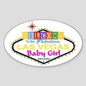 Our LV Baby Girl Blocks Oval Sticker