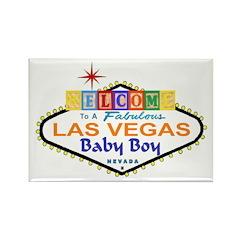 A LV Baby Boy Blocks Rectangle Magnet (10 pack)
