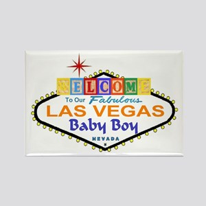Our LV Baby Boy Blocks Rectangle Magnet