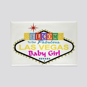 Our LV Baby Girl Blocks Rectangle Magnet