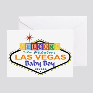 Welcome To Our Fab Las Vegas Baby Boy Blocks Card