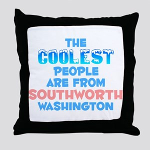 Coolest: Southworth, WA Throw Pillow