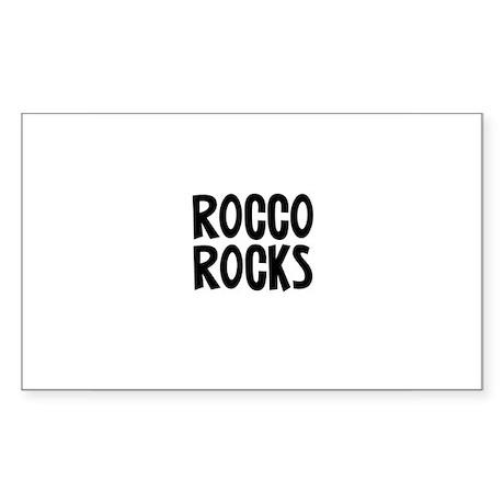 Rocco Rocks Rectangle Sticker