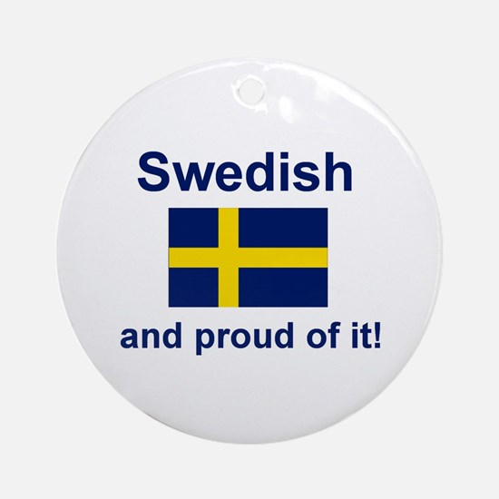 Proud Swede Ornament (Round)