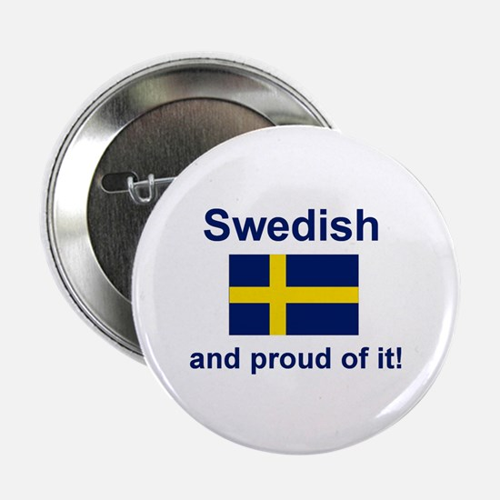 "Proud Swede 2.25"" Button"