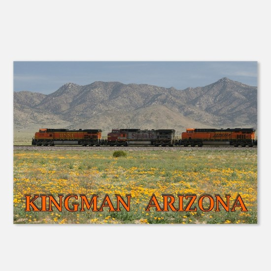 Trains along Route 66 Postcards (Package of 8)