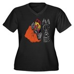 MOAB & 4x4 Women's Plus Size V-Neck Dark T-Shirt