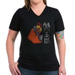 MOAB & 4x4 Women's V-Neck Dark T-Shirt