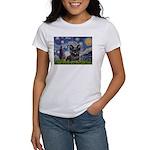 Starry / Black Skye Terrier Women's T-Shirt