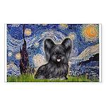 Starry / Black Skye Terrier Sticker (Rectangle)