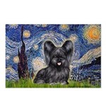 Starry / Black Skye Terrier Postcards (Package of