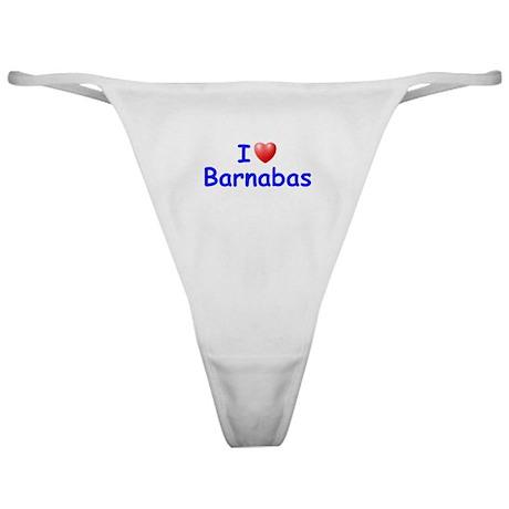 I Love Barnabas (Blue) Classic Thong