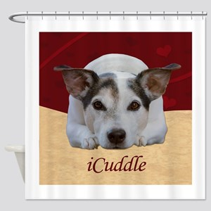 Cute iCuddle Jack Russel Dog Shower Curtain