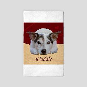 Cute iCuddle Jack Russel Dog Area Rug