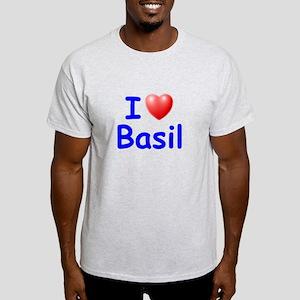 I Love Basil (Blue) Light T-Shirt