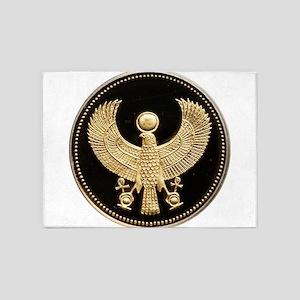 100 Pounds Golden Egyptian Falcon 5'x7'Area Rug