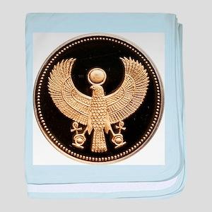100 Pounds Golden Egyptian Falcon baby blanket