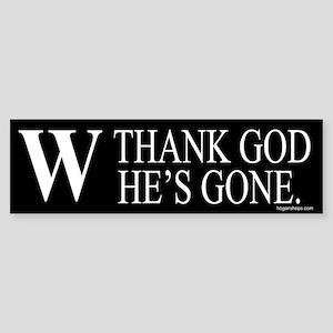 Thank God W Is Gone Bumper Sticker