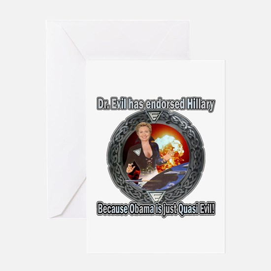 Dr. Evil For Hillary Greeting Card