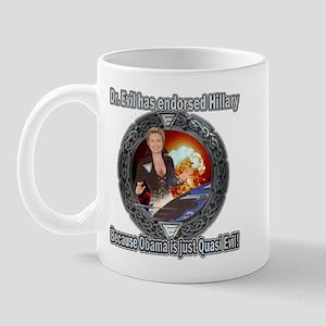 Dr. Evil For Hillary Mug