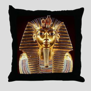 Egyptian Egyptian King Tut Gold Mask Throw Pillow
