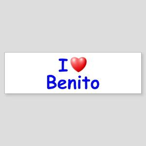 I Love Benito (Blue) Bumper Sticker