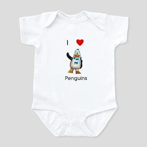 I love penguins (boy) Infant Bodysuit