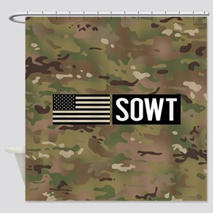 U.S. Air Force: SOWT (Camo) Shower Curtain