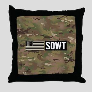 U.S. Air Force: SOWT (Camo) Throw Pillow
