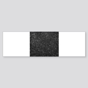 Black faux glitter background. Bumper Sticker