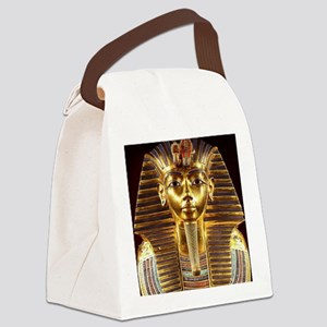 Egyptian Egyptian King Tut Gold M Canvas Lunch Bag
