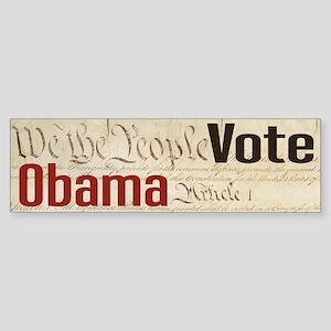 We the People VOTE OBAMA Bumper Sticker
