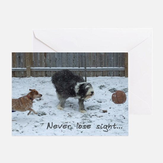 Inspirational Snow Dogs Greeting Card