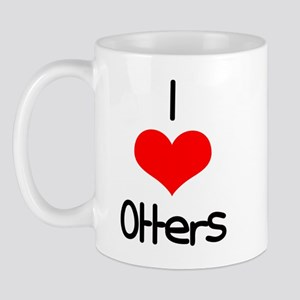 I Love (heart) Otters Mug