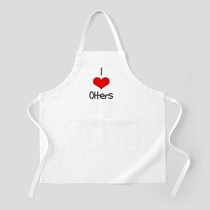 I Love (heart) Otters BBQ Apron