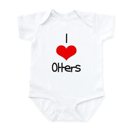 I Love (heart) Otters Infant Bodysuit