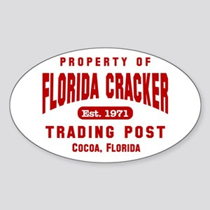 Florida Cracker Red Property Oval Sticker