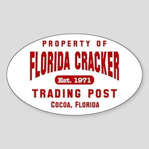 Florida Cracker Red Property Oval Sticker